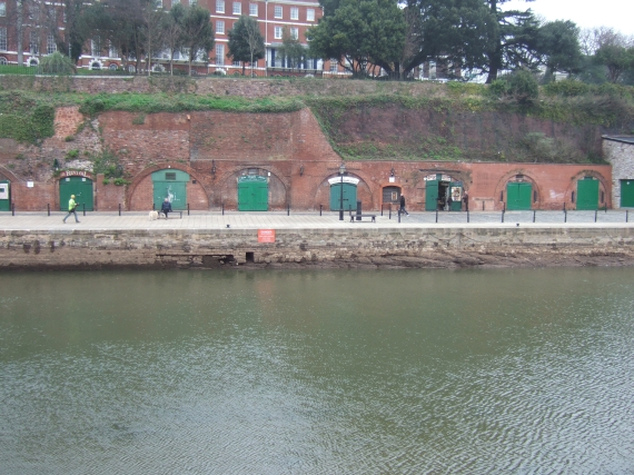 Cellars, Exeter Quay, river with reduced flow