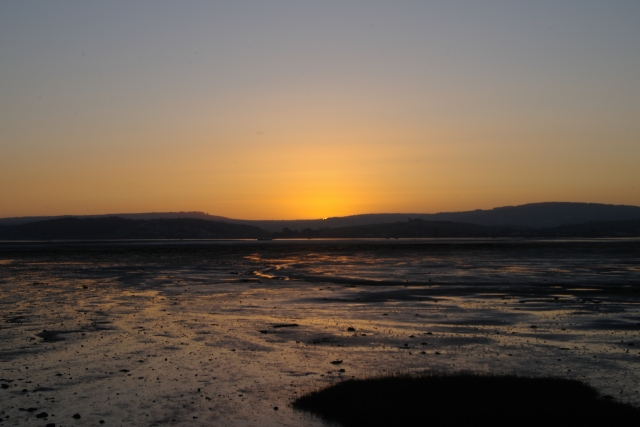 Sunset across the Exe