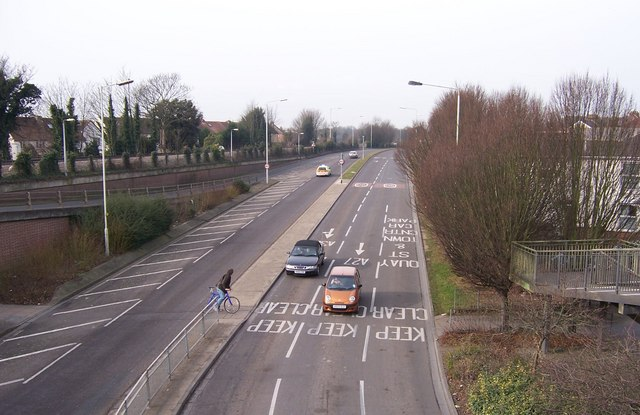 Fareham Bypass from foot bridge
