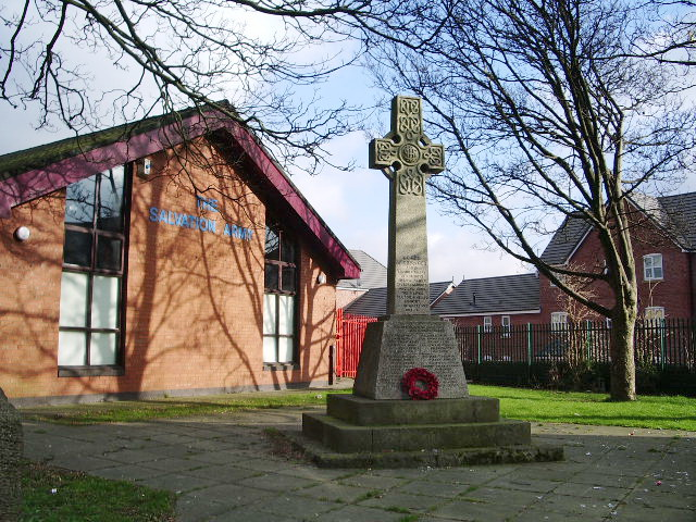 War Memorial at Salvation Army Hall, Bury
