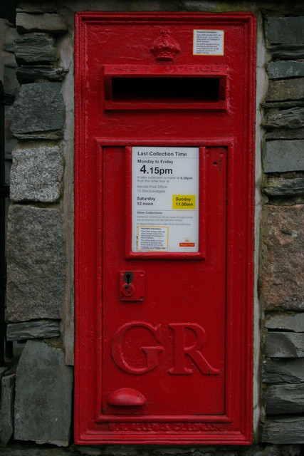 George V Postbox, Elterwater