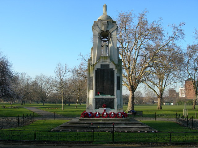War Memorial, Central Park, East Ham