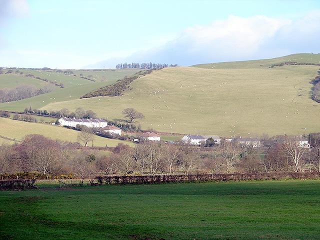 A view across Dyffryn Rheidol towards Penllwyn