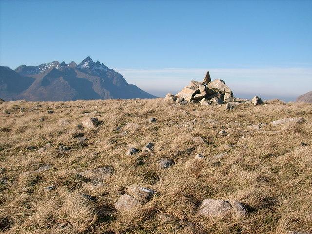 Ruadh Stac summit cairn