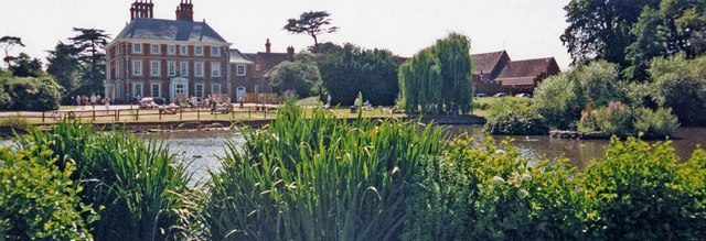 North elevation of Forty Hall with lake, Enfield