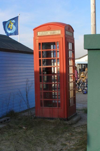 Telephone kiosk, Mudeford Spit