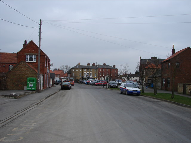 Approaching Market Place, Wragby from the South