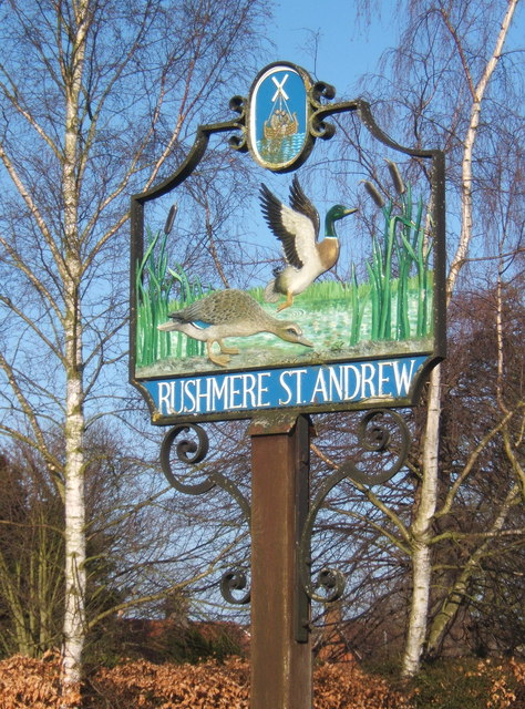 Rushmere St Andrew village sign