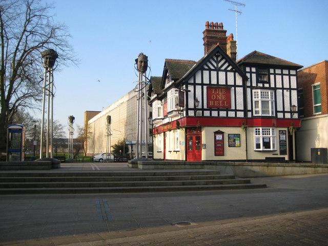 Watford: The Town Square and The One Bell public house