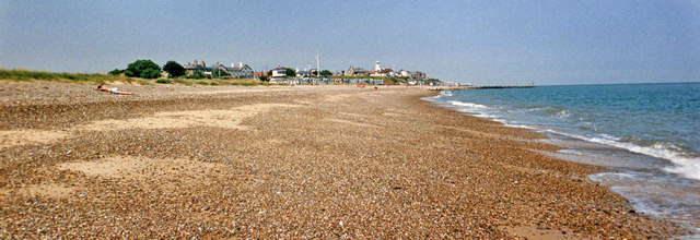 TM5075 : Southwold Beach, Suffolk by Christine Matthews