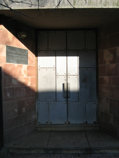 Doorway to The Addleshaw Tower