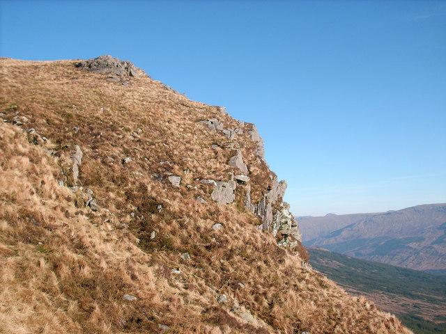 Craggy hillside