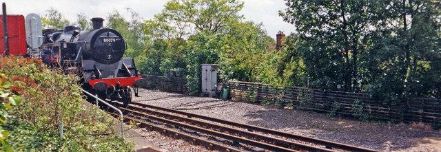 Steam Train approaching Amersham Station, Buckinghamshire