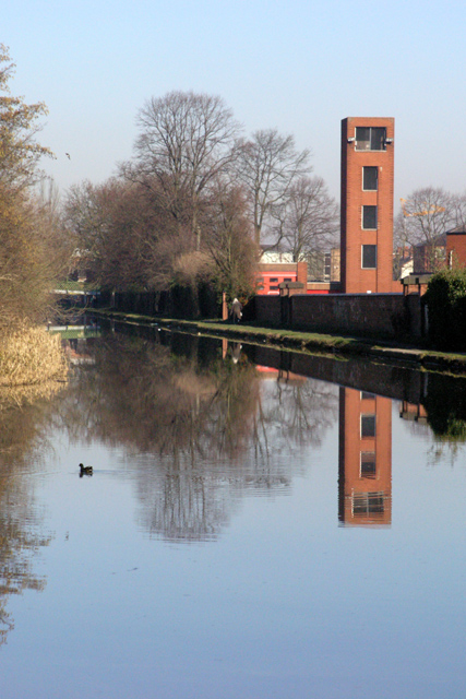Fire Station and Moorhen, Long Eaton