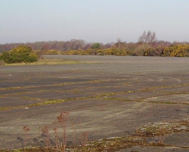 Disused runways near Blackbushe Airport