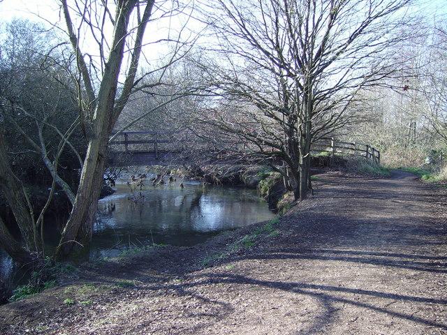 Footbridge over the River Blackwater