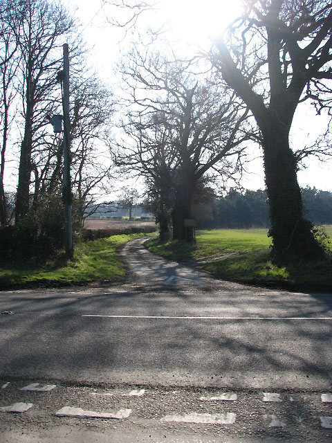 Looking across the A1062