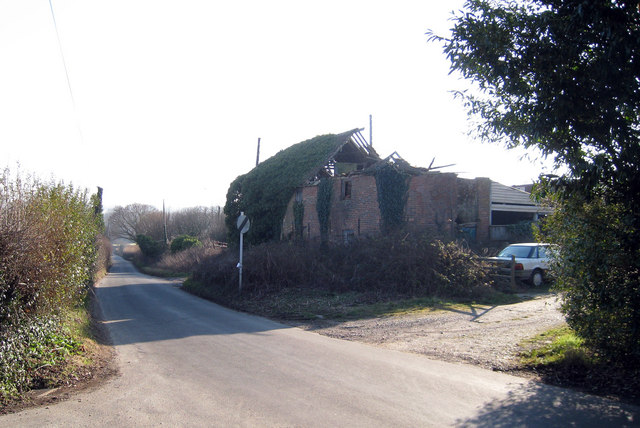 Derelict Oast House at Moor Farm, Stonestile Road, Westfield, East Sussex