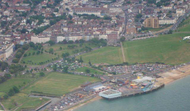 Aerial view of Clarence Pier-Portsmouth