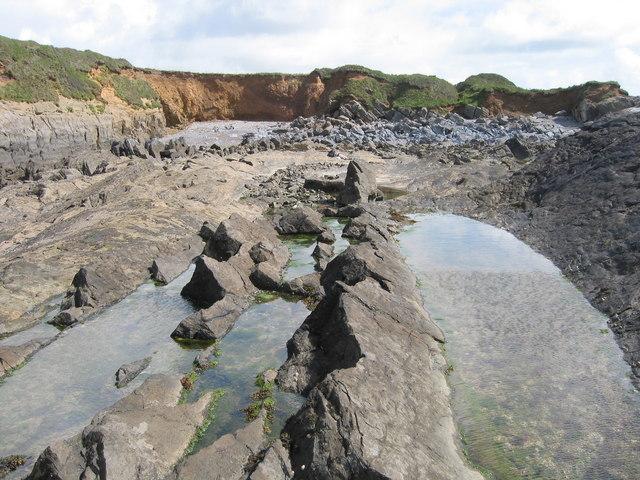 Rock pools at West Angle Bay