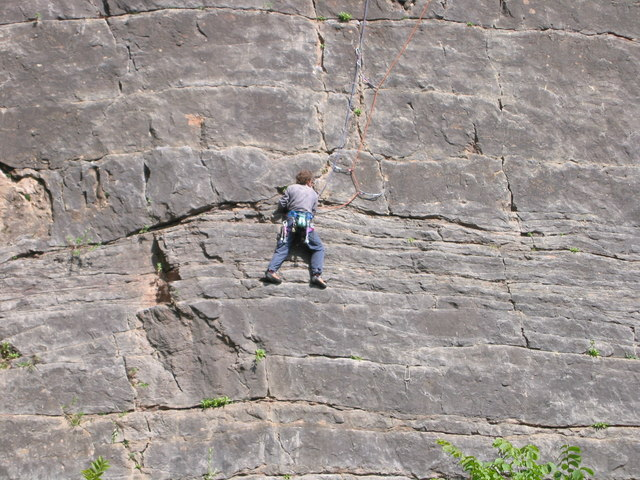 Rock climber on the Black Wall