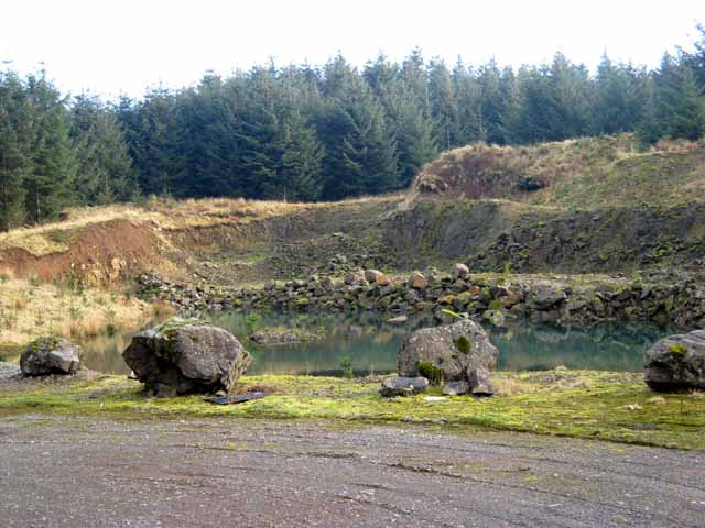 Old forest quarry at Burnt Shields