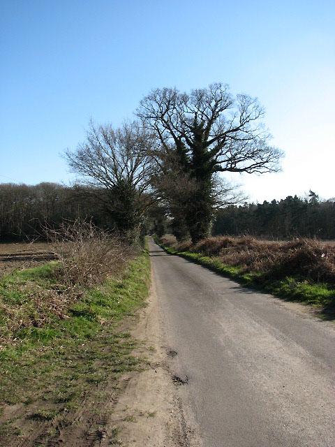 View southeast along Long Lane