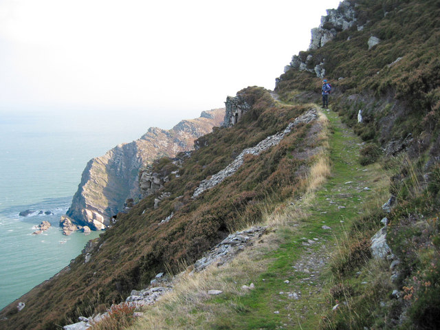 Coastal path  near Heddon's mouth