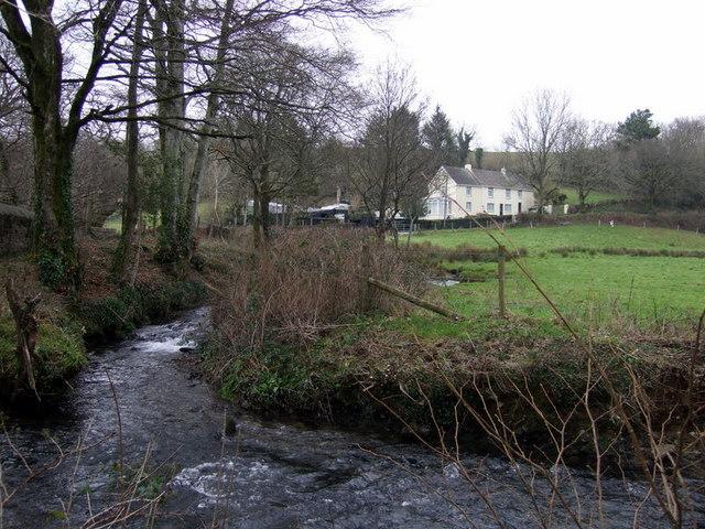 Afon Syfynwy at Stepaside bridge