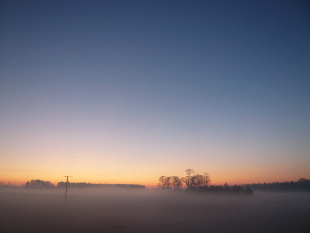 Sunrise at Gunton Norfolk