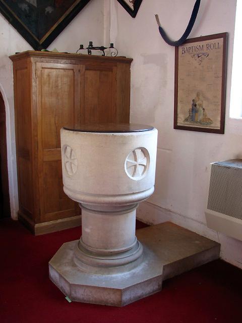 St Peter, Hoveton - baptismal font
