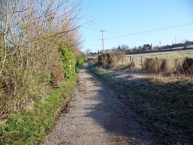Footpath towards Salterton Farm