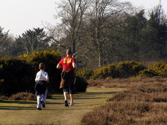 Joggers on Picket Plain, New Forest