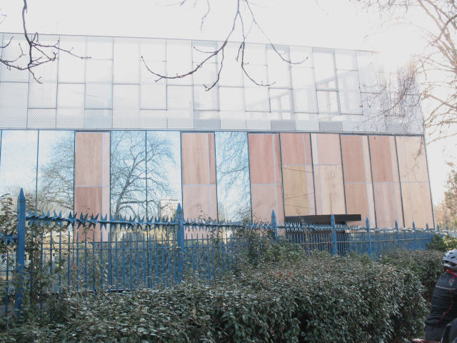The Stephen Lawrence Centre damaged