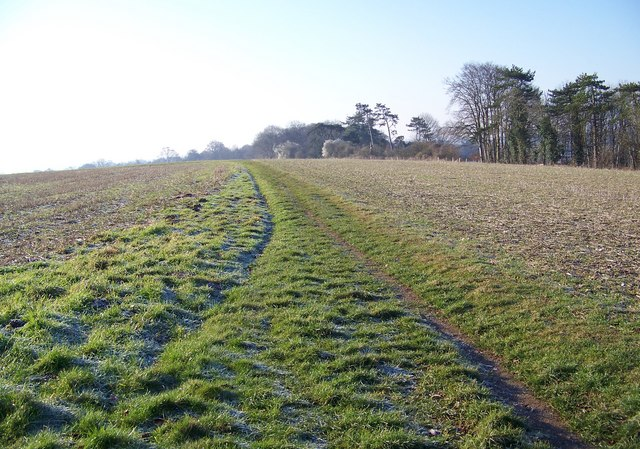 Bridleway across the fields above Lower Woodford