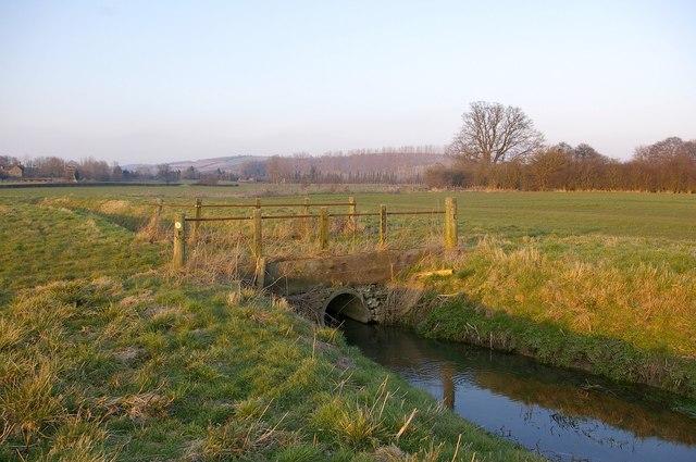 Bridge over drainage ditch, Wigmore Moor