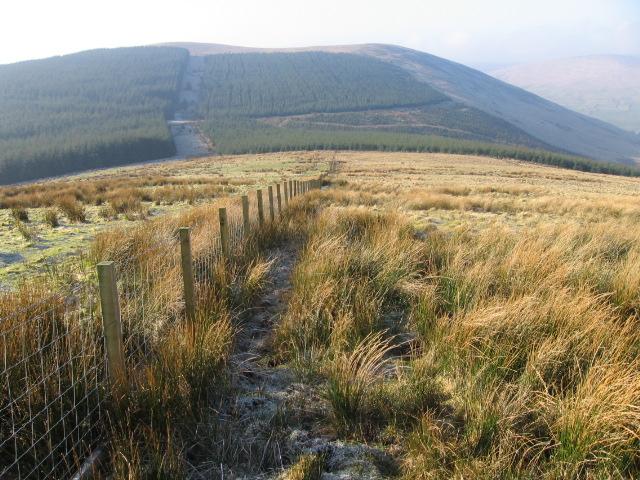 Clackleith Hill toward Craignorth Hill