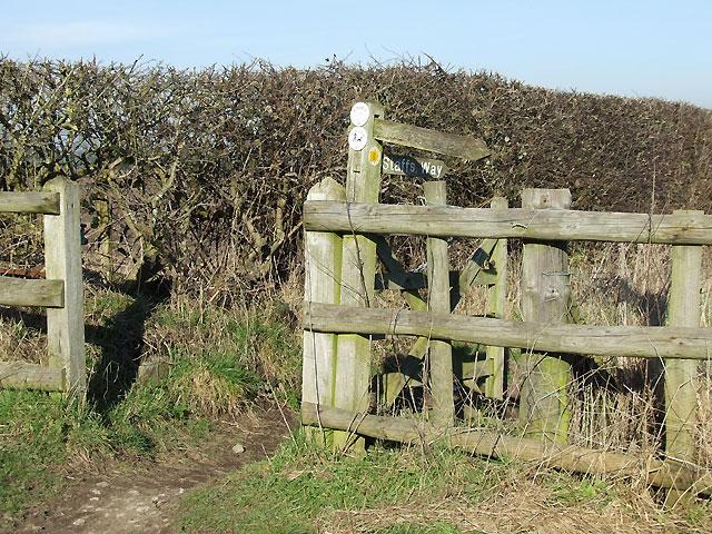 Staffordshire Way west of Seisdon, Staffordshire