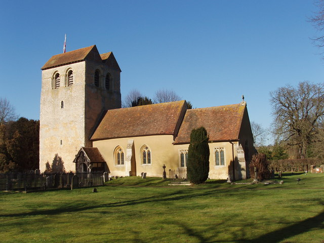St Bartholomew's, Fingest, with twin-gabled tower