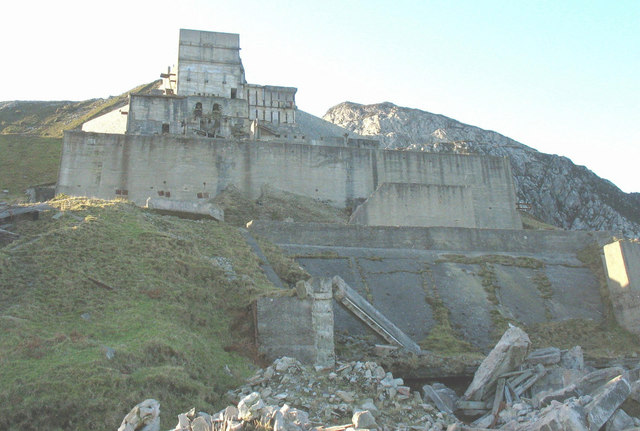 The main crusher at Gwaith Mawr (Trefor Quarry)