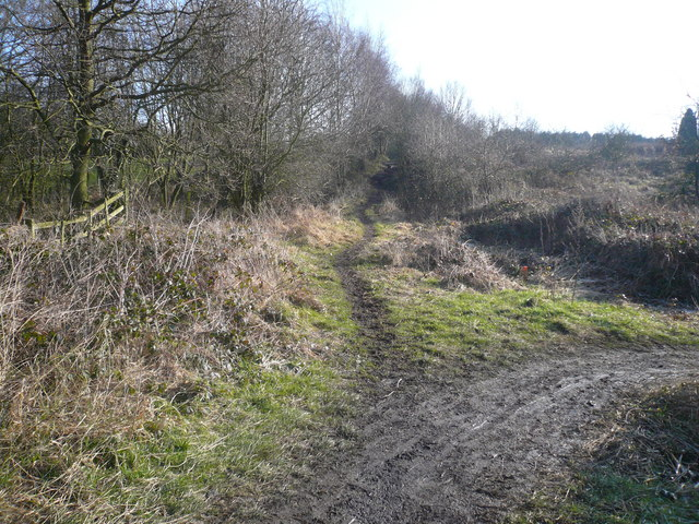 Shirland Golf Course Footpath Junction