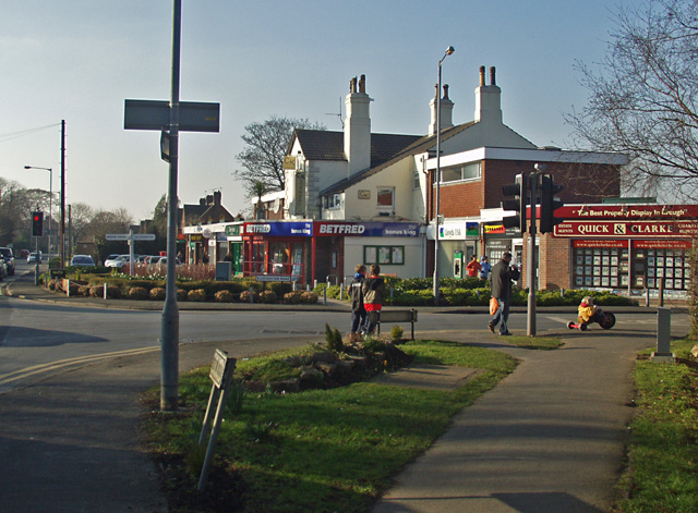 Welton Road's junction with Elloughton Road, Brough
