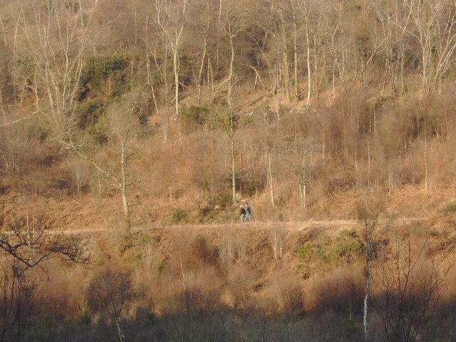 People walking near Craigbill Hill
