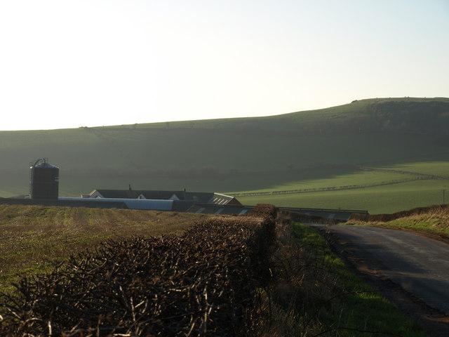 Meadowhead Farm and Tarbert hill
