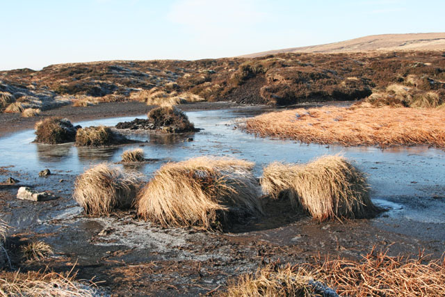 Pond on high moorland
