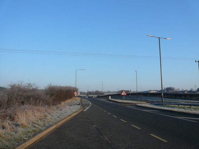 A61 North View from bottom of Alfreton Hill
