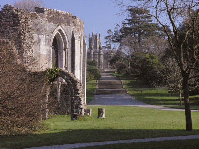 Margam Castle and part of the old abbey