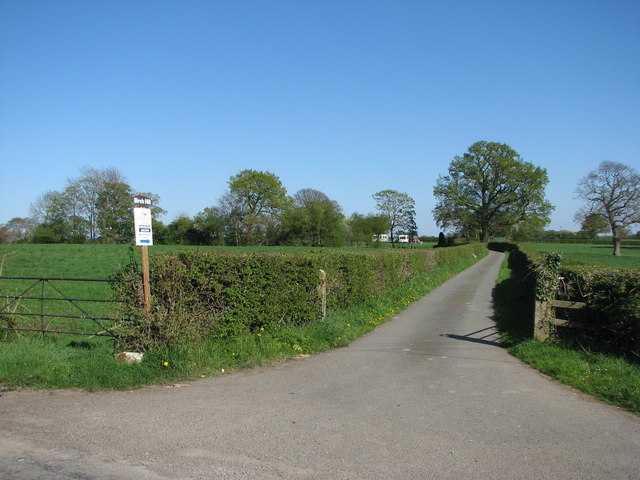 Entrance from lane to Birch Hill Farm Caravan Club CL