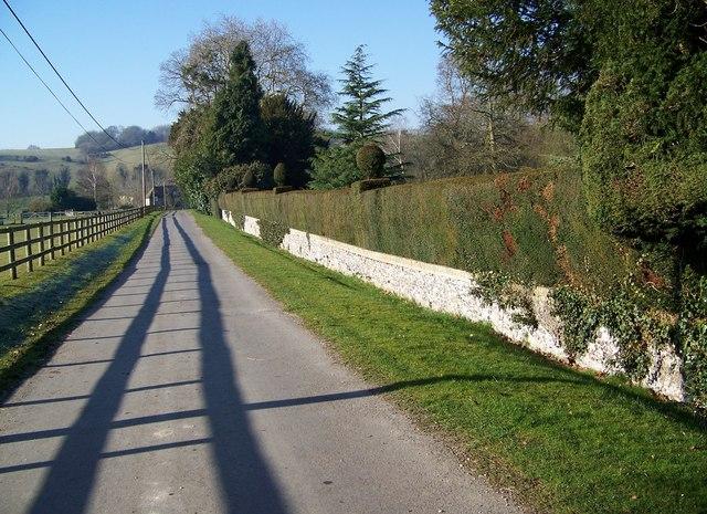 Drive to Home Farm, Little Durnford Manor