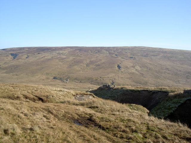 The remains of the northern wall of the extensive Sleddale House sheepfold system
